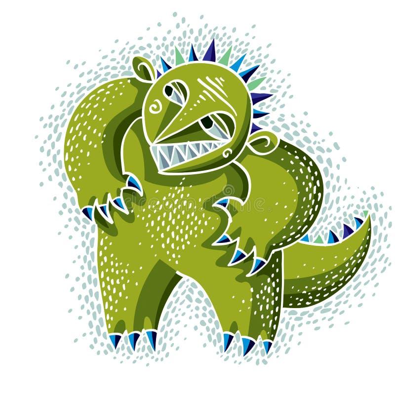 Vector el ogro lindo del carácter de Halloween, criatura ficticia fresco ilustración del vector