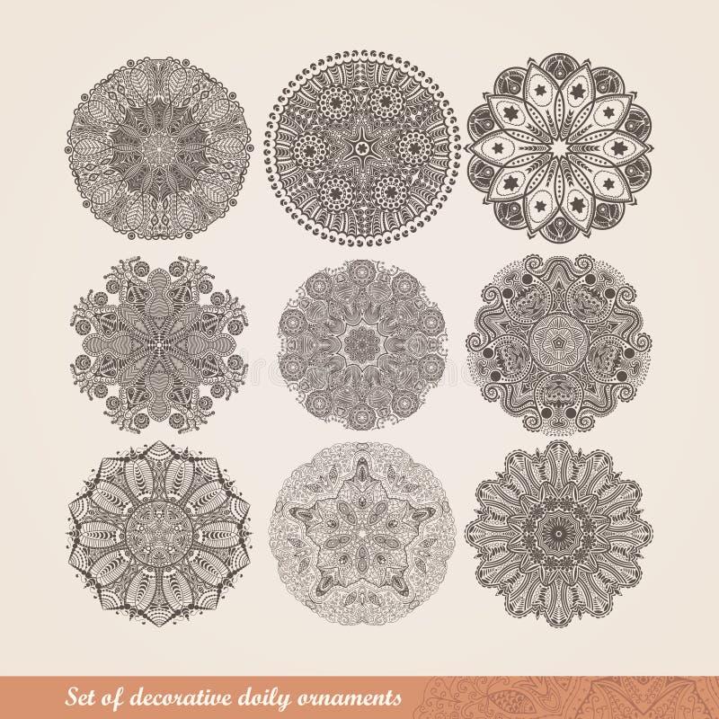 Vector el ornamento indio, estampado de flores caleidoscópico, mandala S ilustración del vector