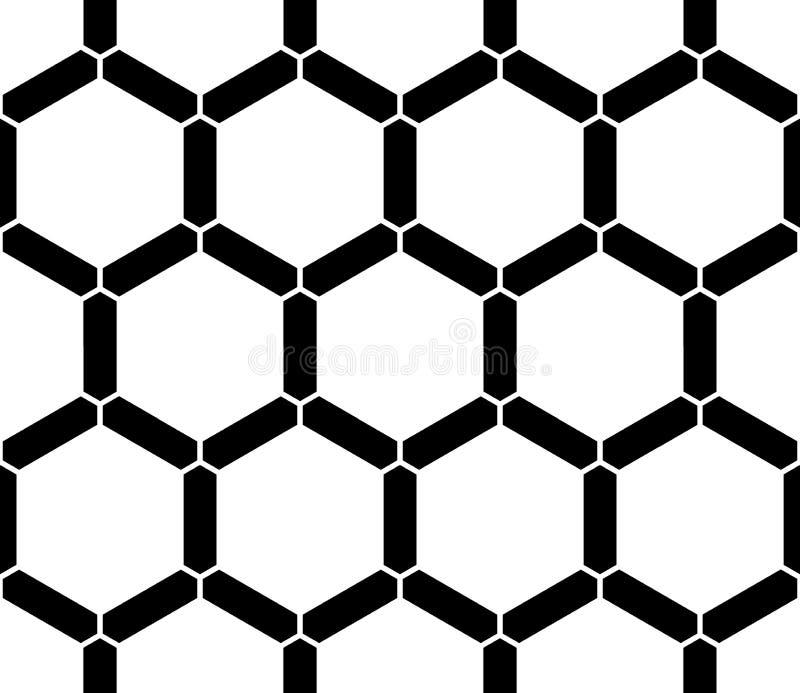 Vector el panal sagrado inconsútil moderno del modelo de la geometría, extracto blanco y negro ilustración del vector