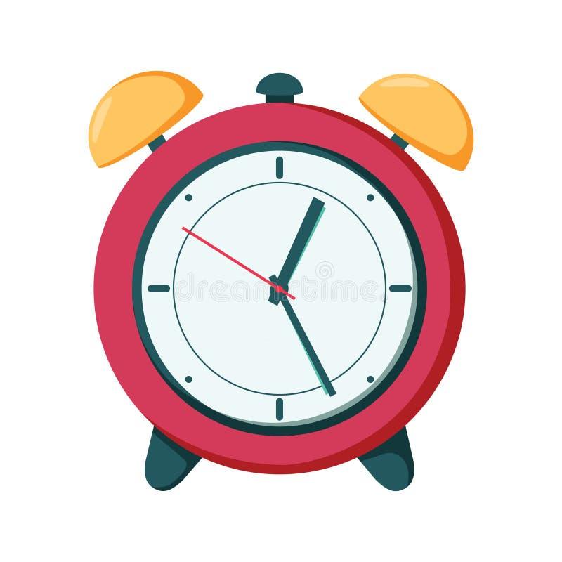 Vector el símbolo del tiempo del ejemplo de la alarma del reloj, reloj de la hora stock de ilustración