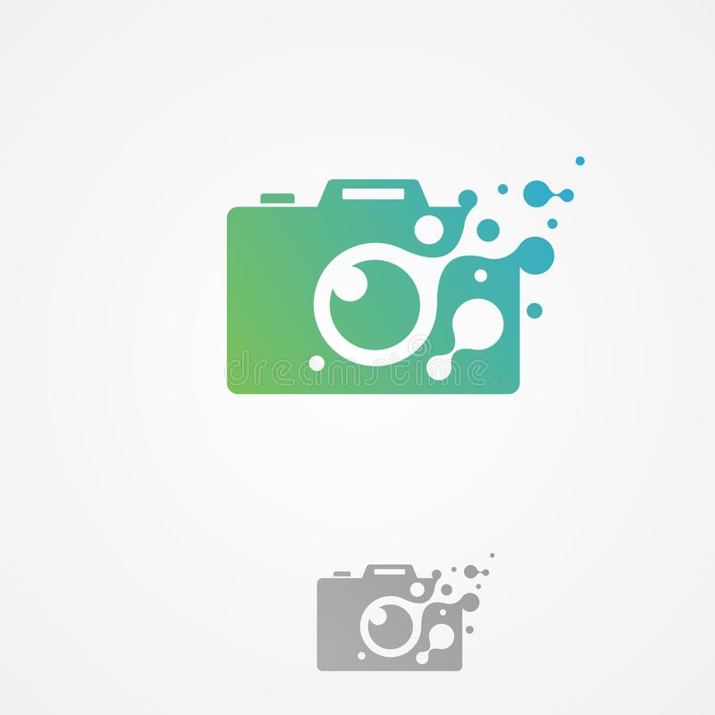 Vector el símbolo moderno del icono de la cámara del pixel para el gráfico y el diseño web libre illustration