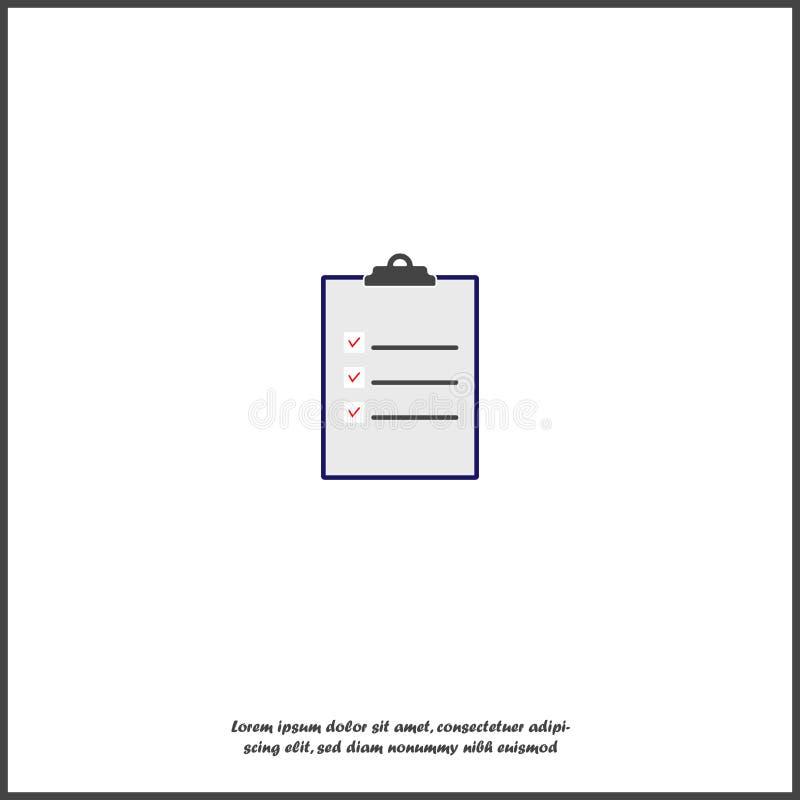 Vector el tablero y la lista de control con las marcas de cotejo y las cruces Tableta del negocio con un formulario de inscripci? stock de ilustración