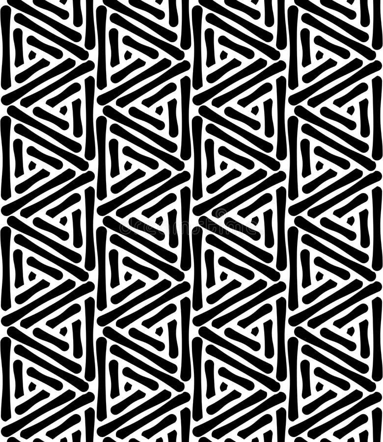 Vector el triángulo inconsútil moderno del modelo de la geometría, extracto blanco y negro libre illustration