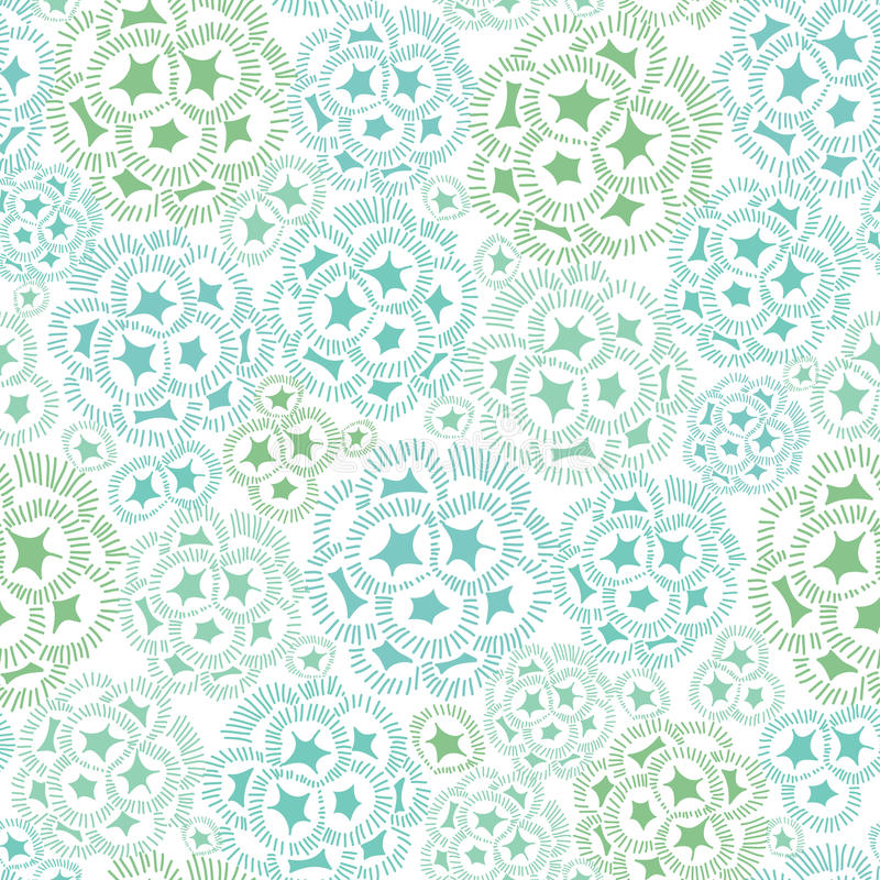Vector el verde menta y la textura abstracta azul de la planta de la alga marina que dibujan el fondo inconsútil del modelo Grand libre illustration