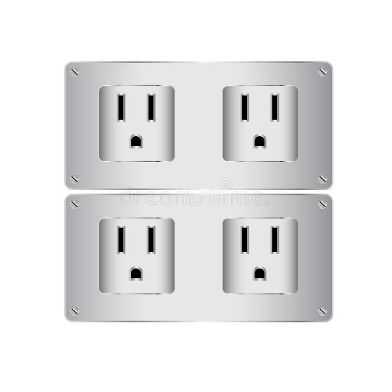 Vector electric plug isolate. Is a general illustration royalty free illustration