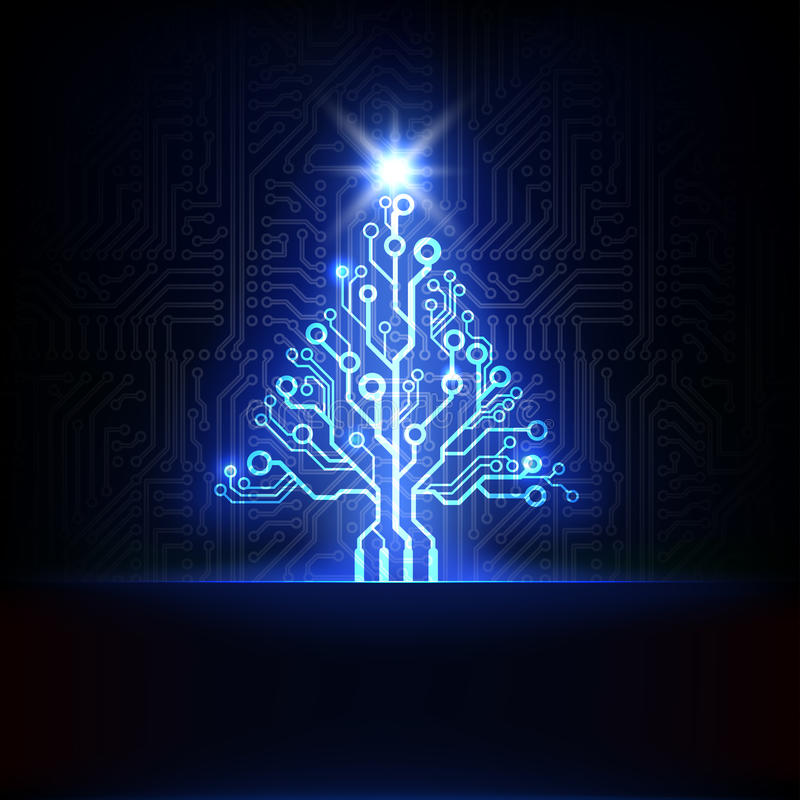 Free Vector Electronic Christmas Tree Royalty Free Stock Images - 28139549