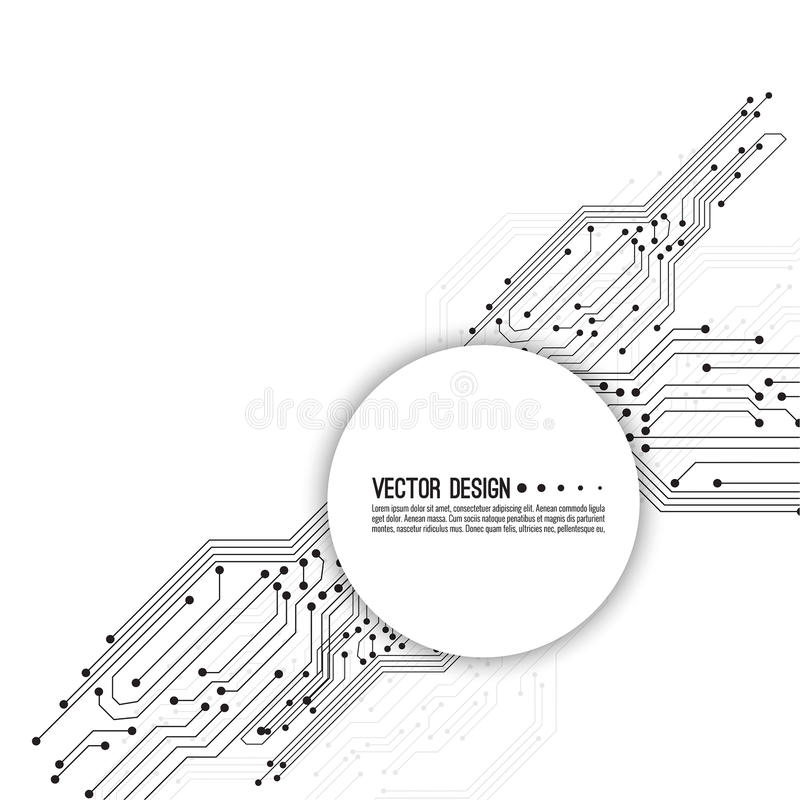 vector electronic motherboard  stock vector