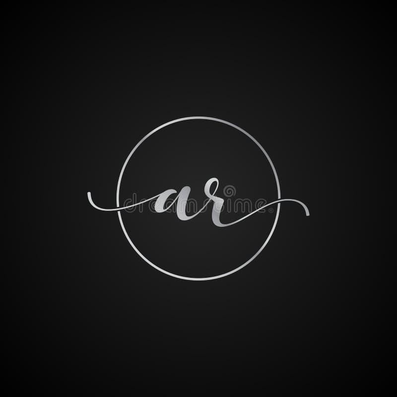 Vector elegante único moderno de la plantilla del logotipo de la letra inicial de AR creativo libre illustration