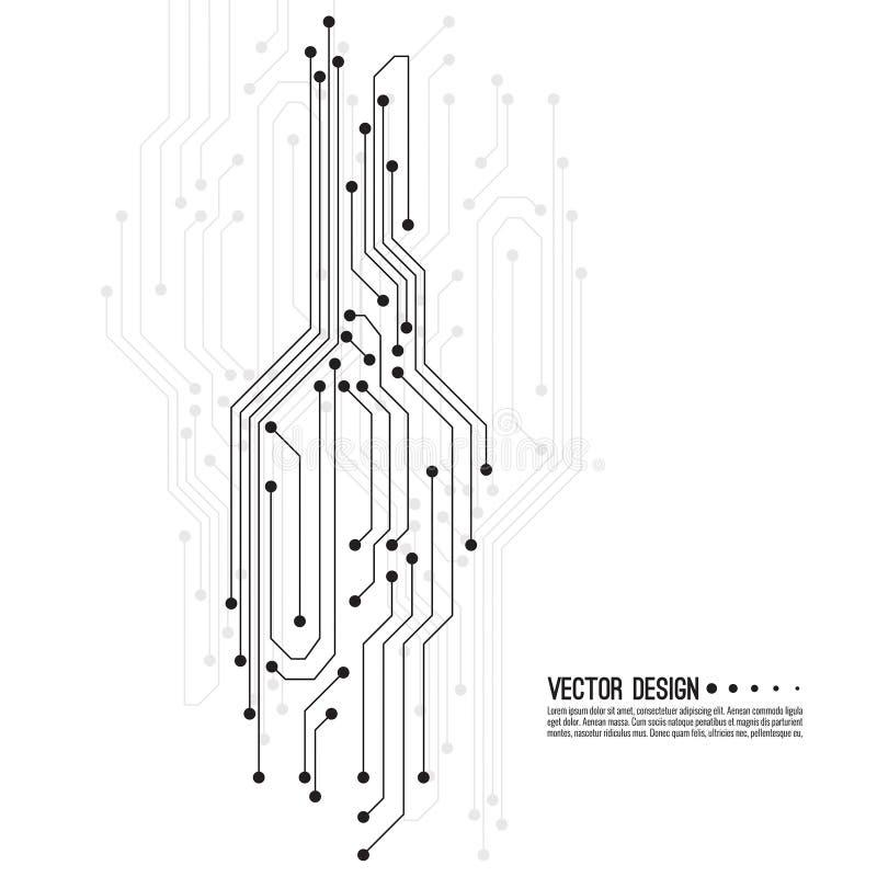 Vector elektronische motherboard royalty-vrije illustratie