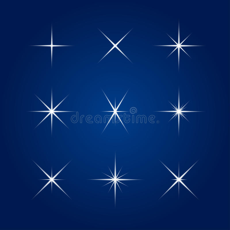 Vector element - Flash, highlight, star. Vector element - a flash, the star on a blue background stock illustration