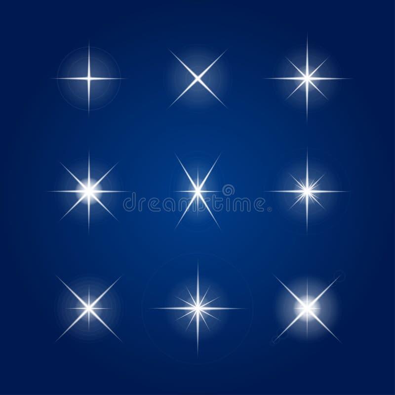 Vector element - Flash, highlight, star. royalty free illustration