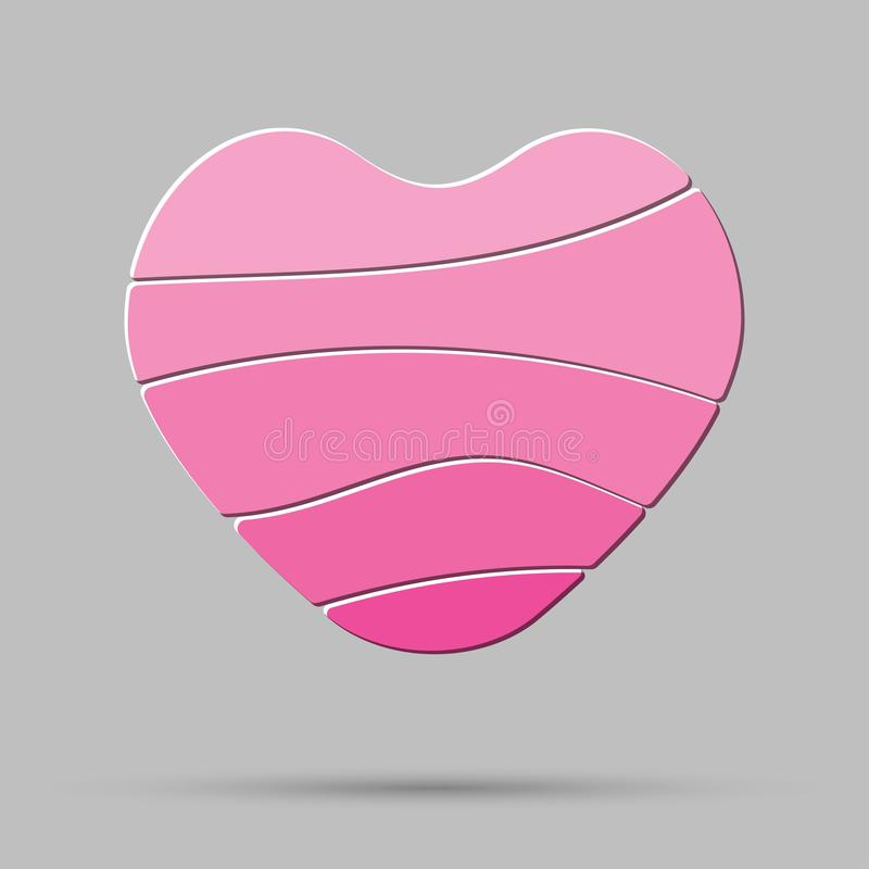 Vector element heart, love. Symbol of romance. vector illustration