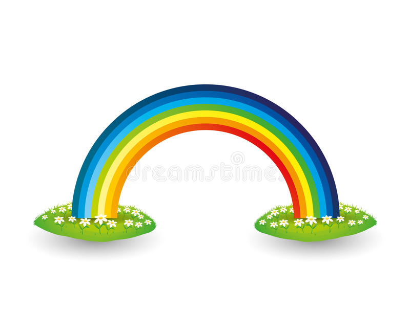 Vector element Regenboog stock illustratie