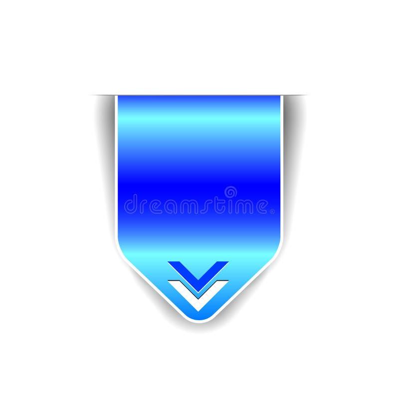 Vector elementen - blauw lint royalty-vrije illustratie
