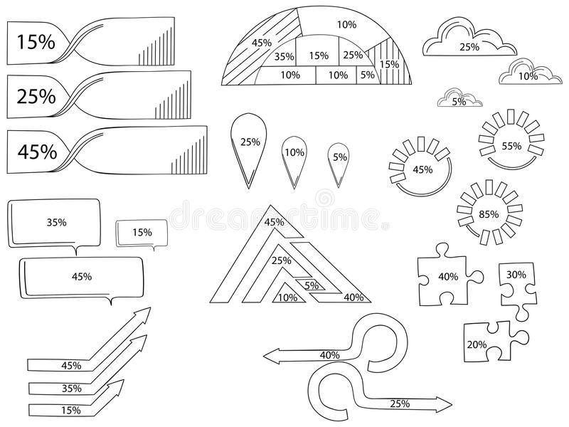 Vector elements for infographic. Template for cycle diagram, graph, presentation and round chart. Business concept with vector illustration