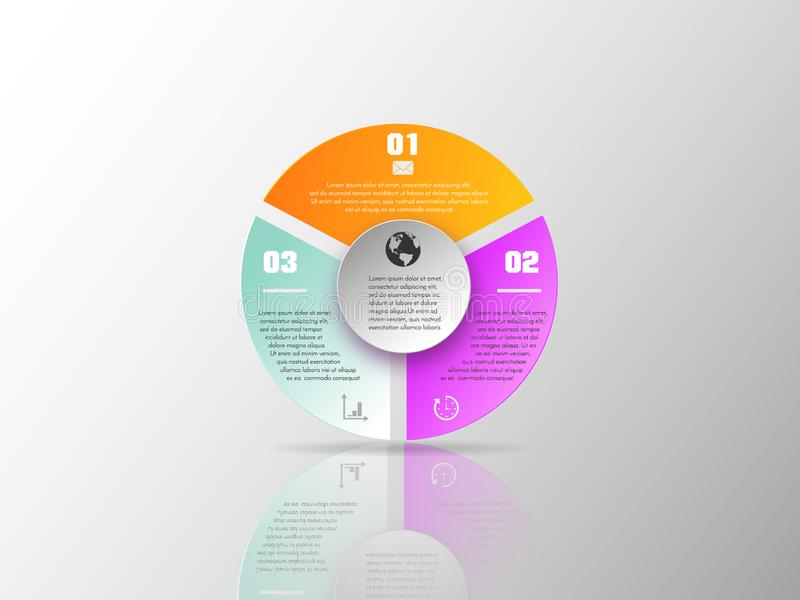 Vector elements for infographic. Template for diagram, graph, presentation and chart. Business concept with 3 options royalty free illustration