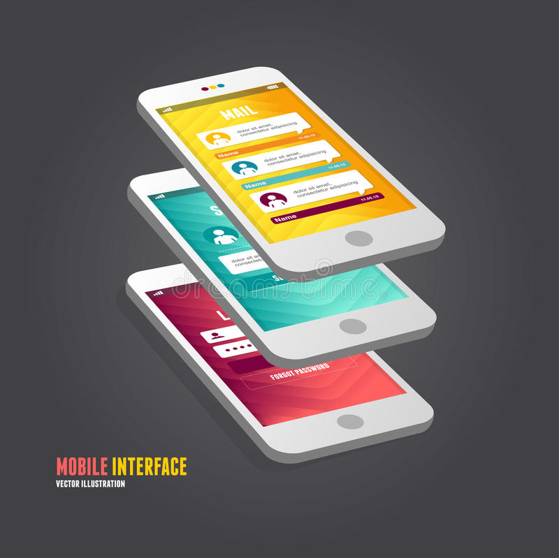 Vector elements of UI. User interface. And infographic stock illustration