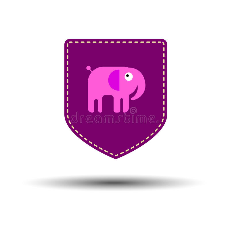 Vector elephant animal illustration mammal wild cute wildlife de royalty free illustration