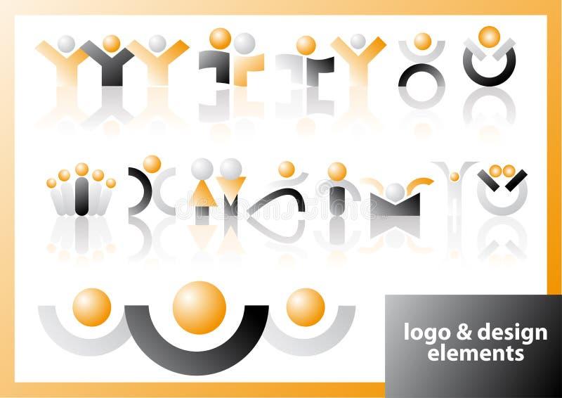 Vector embleem & ontwerpsymbolen royalty-vrije illustratie