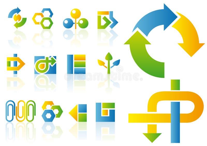 Vector embleem en ontwerpelementen stock illustratie