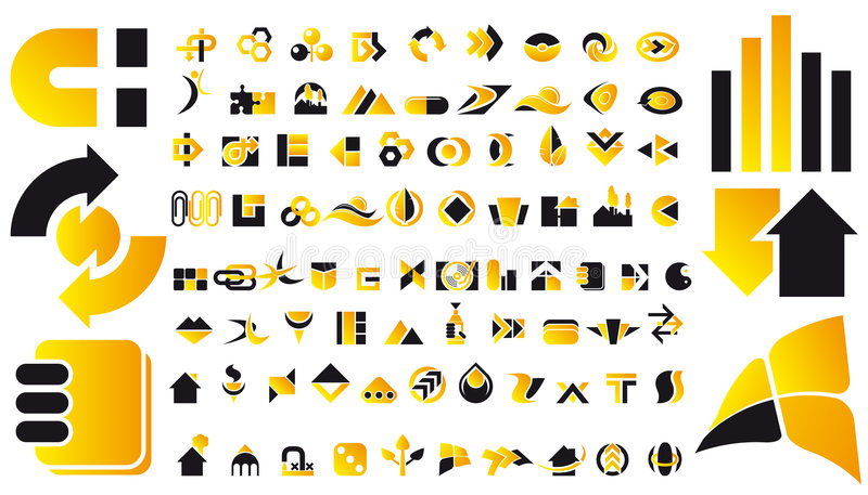 Vector embleem en ontwerpsymbolen vector illustratie