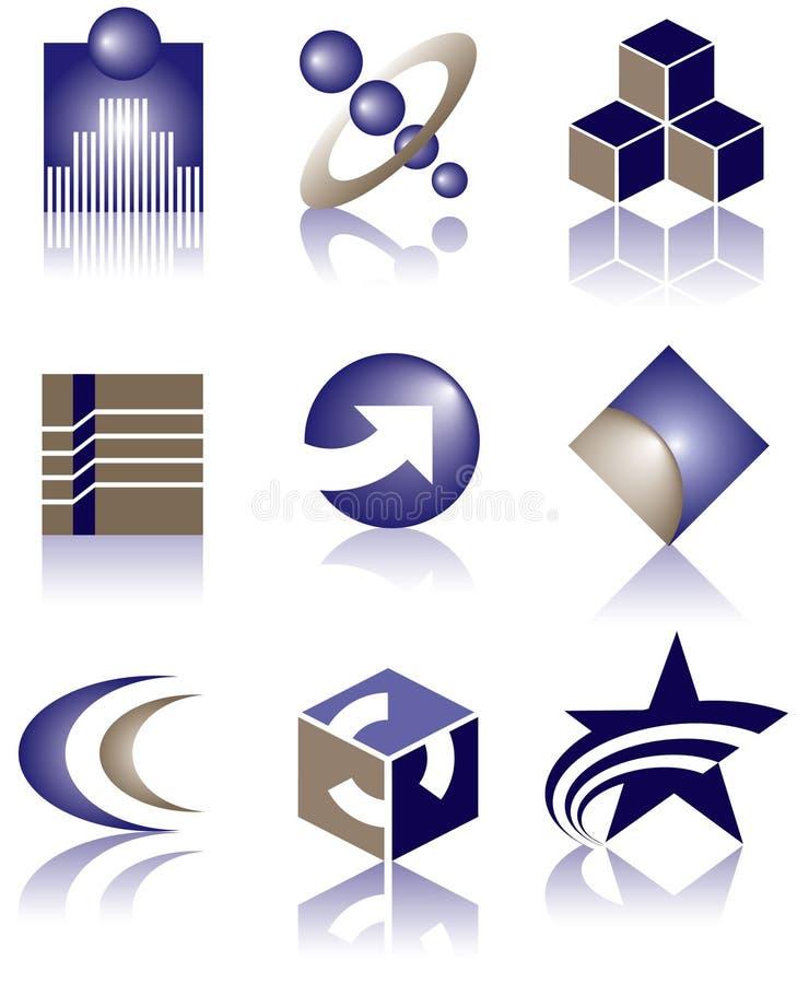 Vector embleemontwerpen vector illustratie