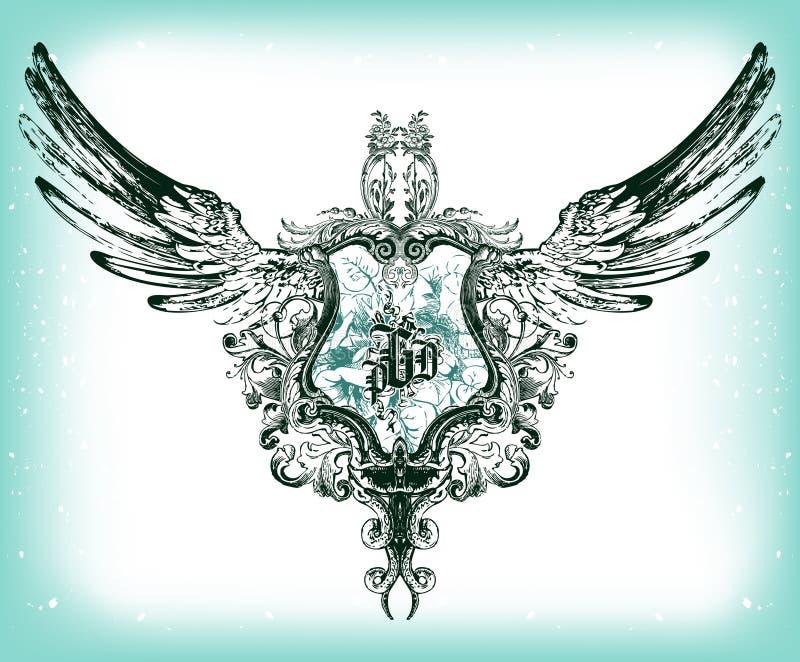 Vector emblem royalty free stock image