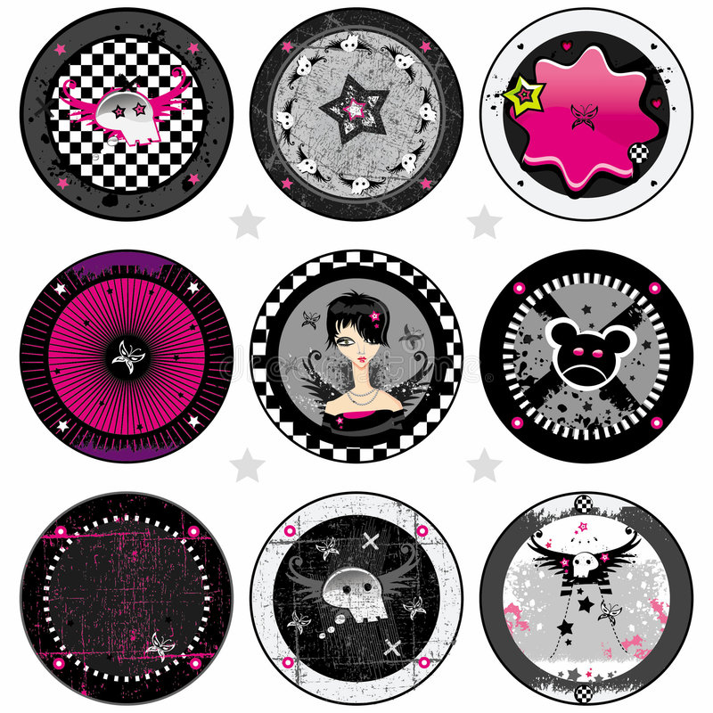 Free Vector Emo Drink Coasters Stock Images - 5028534