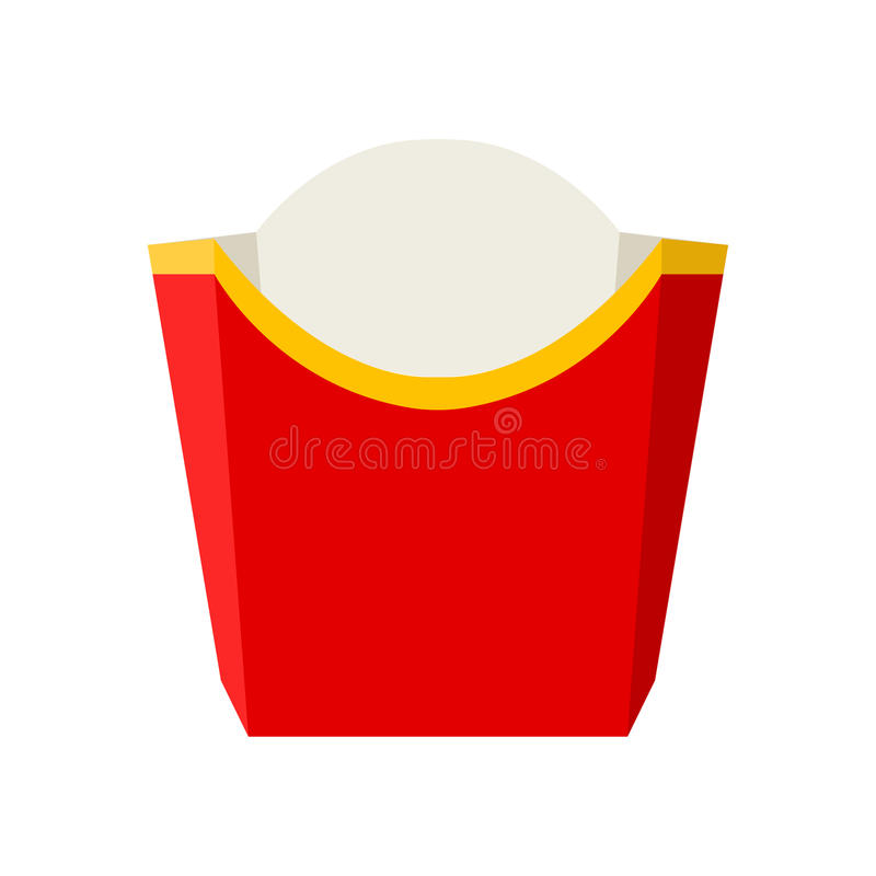 Vector empty packaging for french fries vector illustration