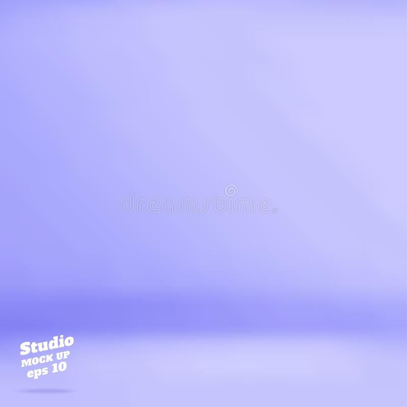Vector Empty pastel purple blue color studio room background ,Template mock up for display of product,Business backdrop. vector illustration