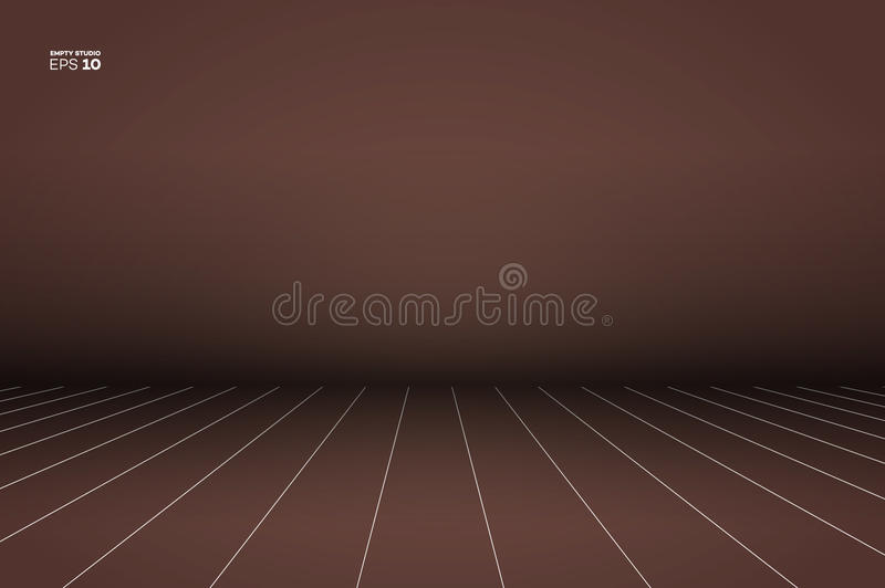 Vector Empty Photo Studio. Realistic 3D Template Mock Up. royalty free illustration