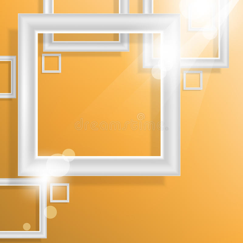 Download Vector Empty Square Frame Elements Background Stock Image - Image: 32024221