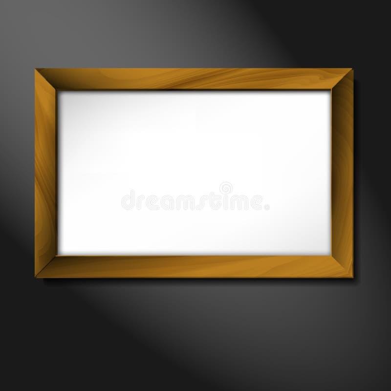 Download Vector Empty Wooden Frame Illustration Stock Vector - Image: 25009325