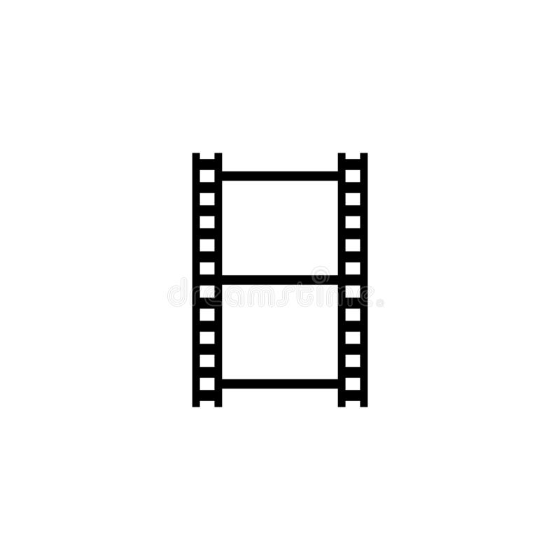 Vector en blanco horizontal de la tira de película libre illustration