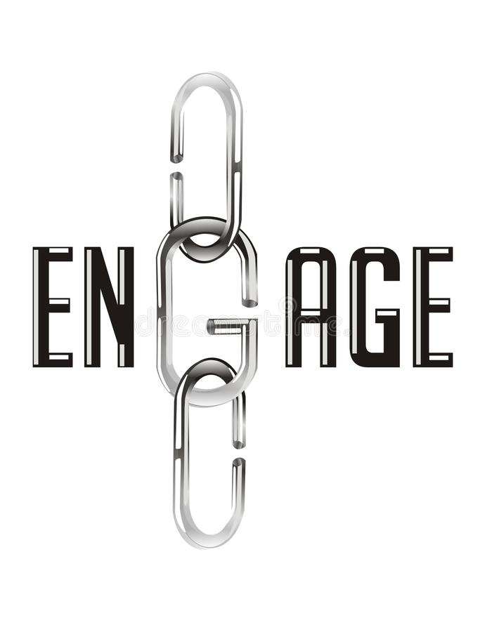 Free Vector Engage Text And Chain Royalty Free Stock Image - 44736666