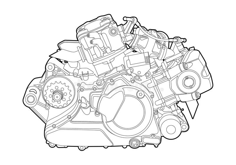 Download Vector engine stock vector. Image of detail, motor, energy - 23236589