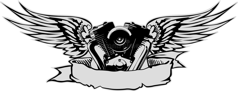 Vector engine royalty free stock photos