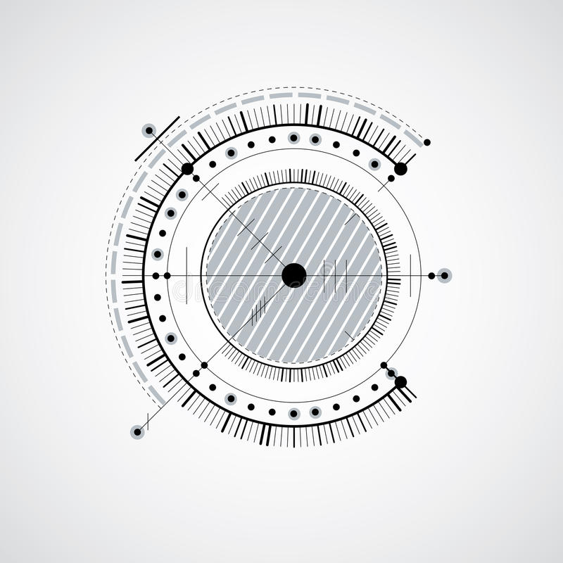 Technical Drawing On A Black Background  Mechanical