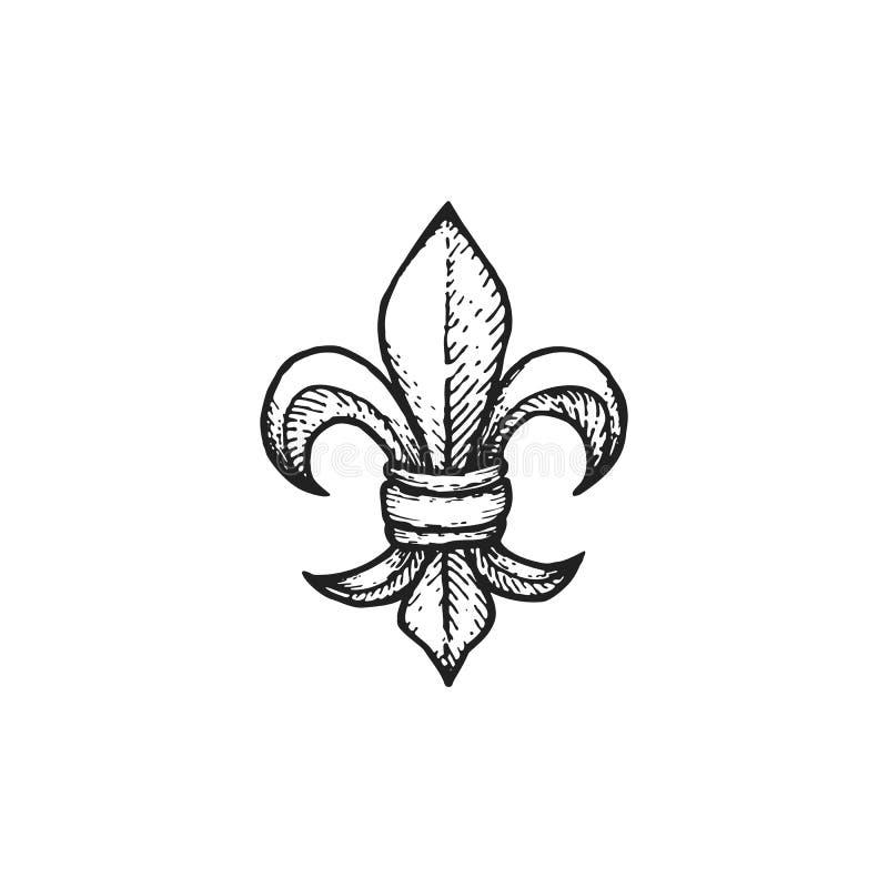 Free Vector Engraving Fleur De Lis Stock Photo - 78625820