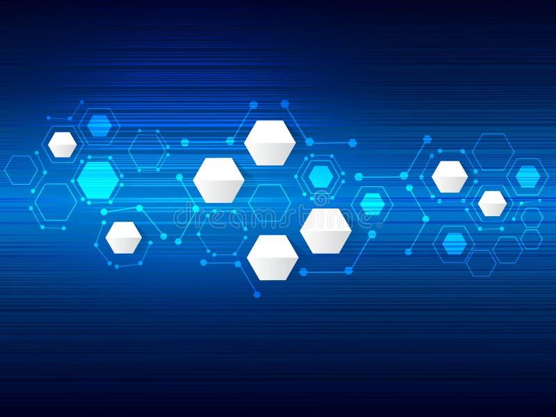Vector Entwurfstechnologie, Netz, Verbindungshintergrund stock abbildung