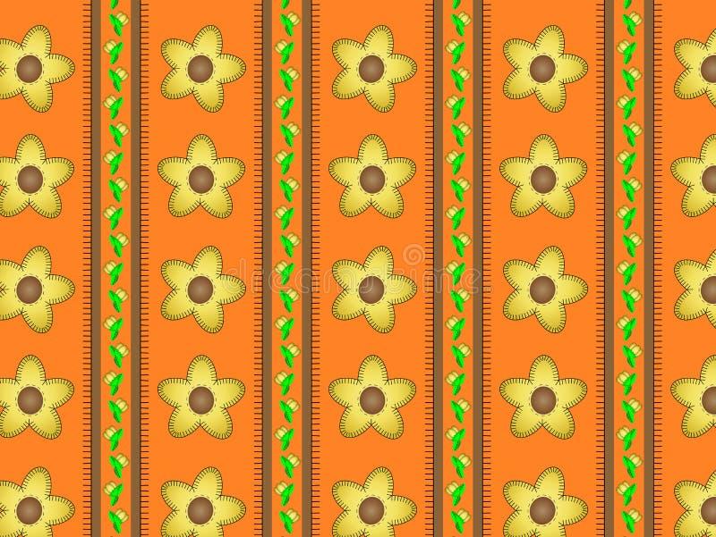 Download Vector Eps 10 Orange Wallpaper With Yellow Flowers Stock Vector - Illustration: 14888292