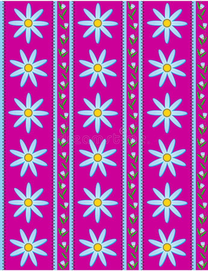 Download Vector Eps 10 Pink Wallpaper With Blue Flowers Stock Vector - Image: 14888295