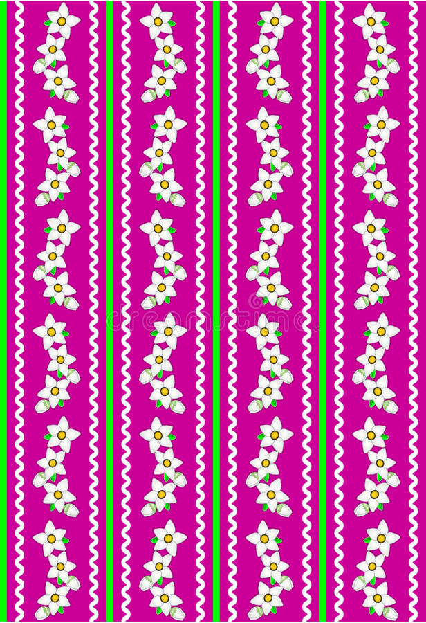 Download Vector Eps 10 Pink Wallpaper With White Flowers An Royalty Free Stock Photos - Image: 14888308
