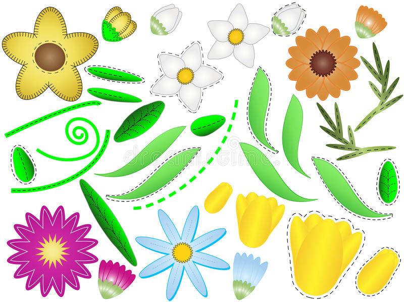 Download Vector Eps 8 Flowers And Leaves To Design Your Own Stock Vector - Image: 14888205