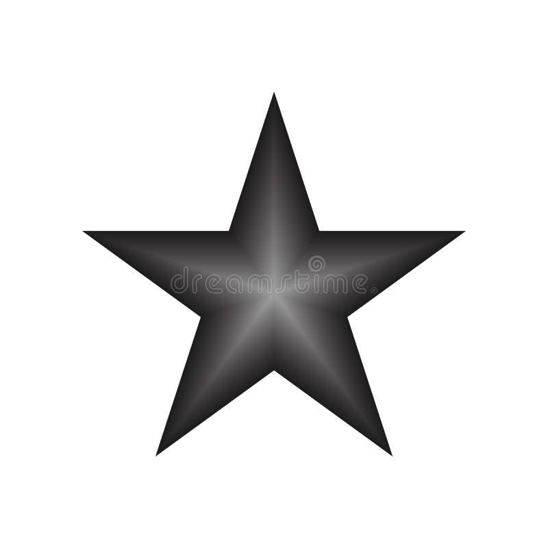 Vector eps10 de la estrella de Blacksilver Icono de clasificaci?n de la estrella con los rayos de la pendiente en el fondo blanco libre illustration