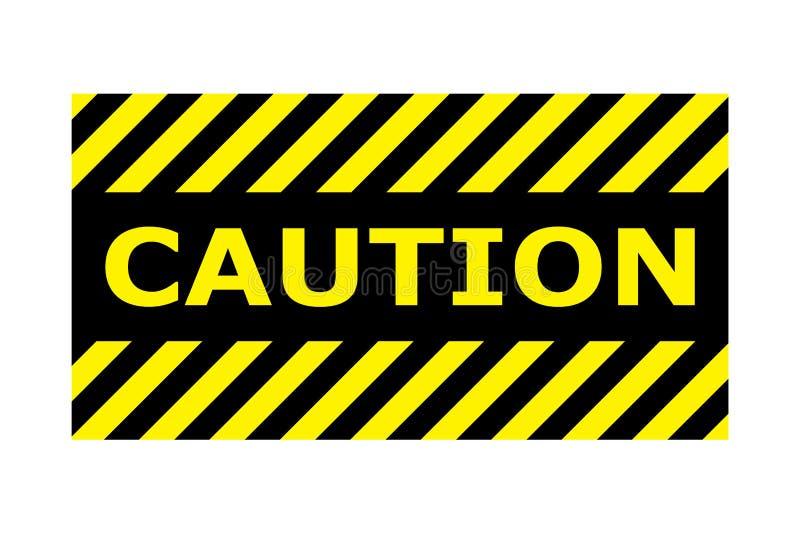 Vector eps10 de la muestra de la bandera de la precaución Frontera con la línea amarillo y color negro Muestra de la precauci?n D libre illustration