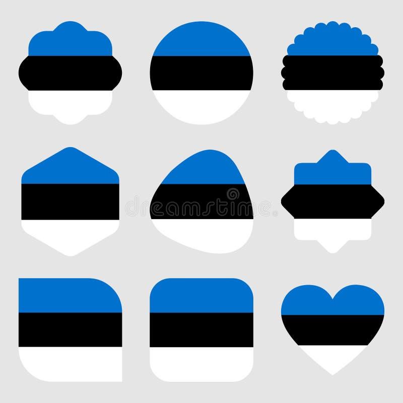 Vector EPS del ejemplo de Estonia Europa de las banderas ilustración del vector