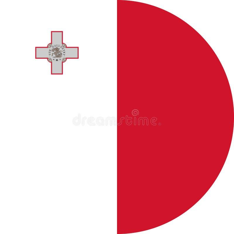 Vector EPS del ejemplo de Europa de la bandera de Malta libre illustration