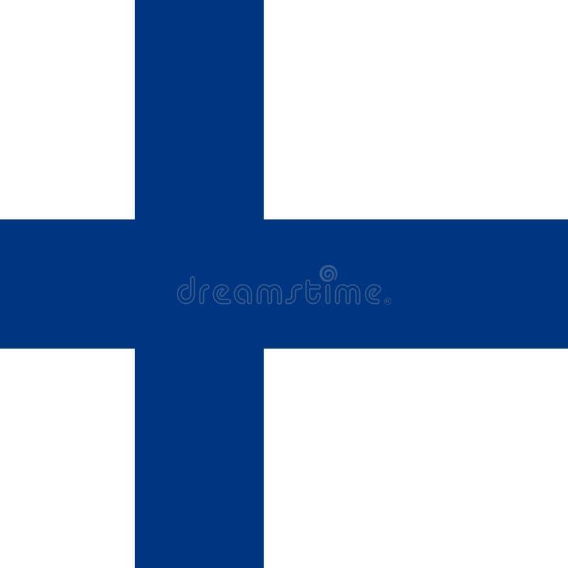 Vector EPS del ejemplo de Finlandia de la bandera stock de ilustración
