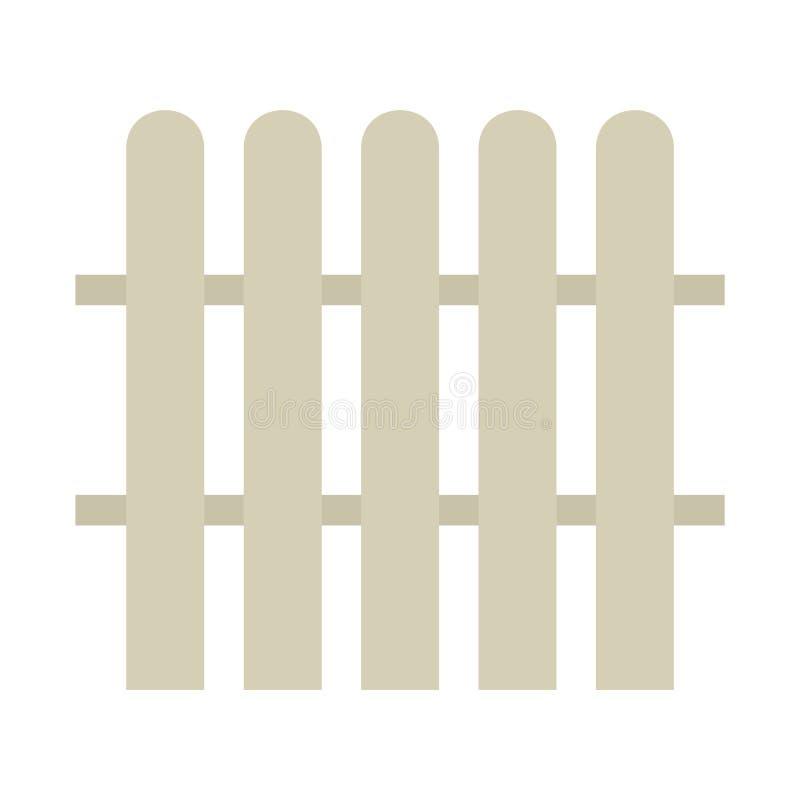 Vector eps10 del icono del vector de la cerca Icono de la cerca icono simple del vector de la cerca En el fondo blanco libre illustration